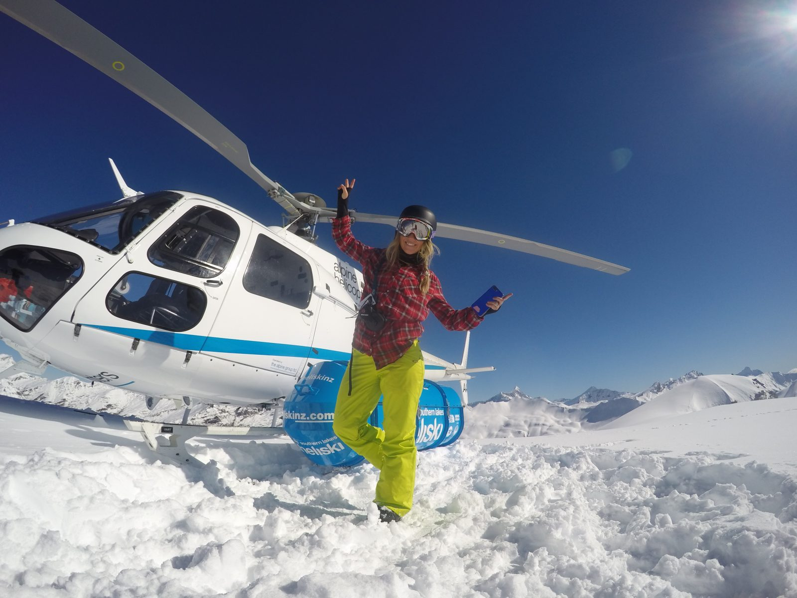 She breathes life!  Stephanie Prem  is back heli-boarding after her injury in 2010!