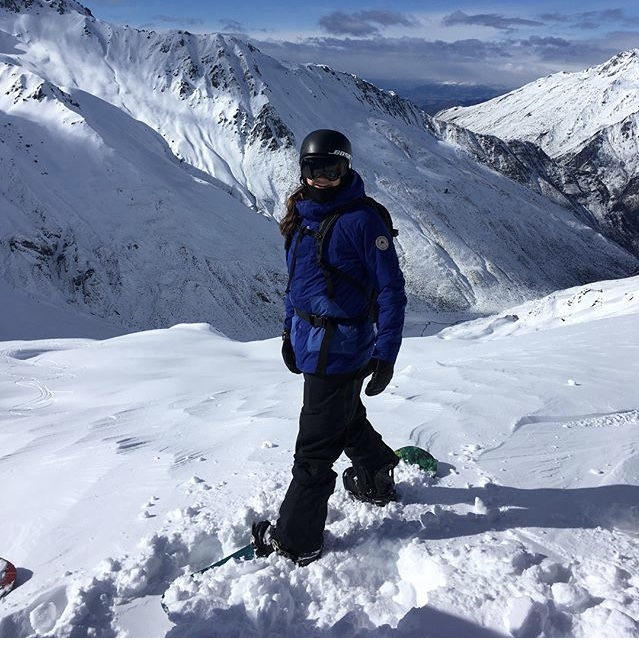 Burton Rider Kelly Clark heliboarding with us enjoying the fresh powder