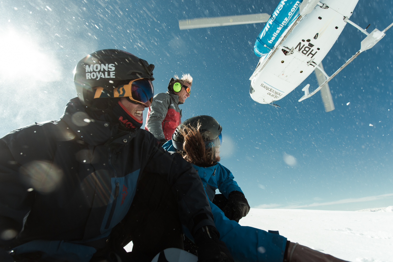 Mons Royale + Southern Lakes Heliski = a perfect partnership Photo: Tim Clark