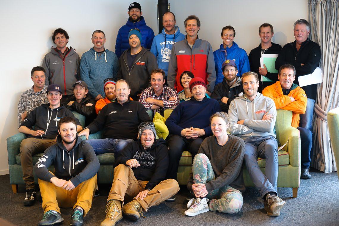 The Southern Lakes Heliski Guides after a successful 2017 Winter heliski season.