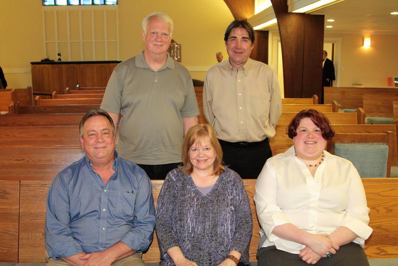 CALVARY HILL BAPTIST WORSHIP TEAM  (Left to Right)  Top Row: Pete Cowett, Brian Anderson Bottom Row: David Brooks, Jennifer Cowett, & Rachel Chedak