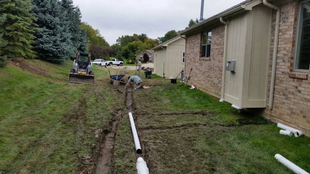 Drainage by landscapers near me in Rochester Hills, MI