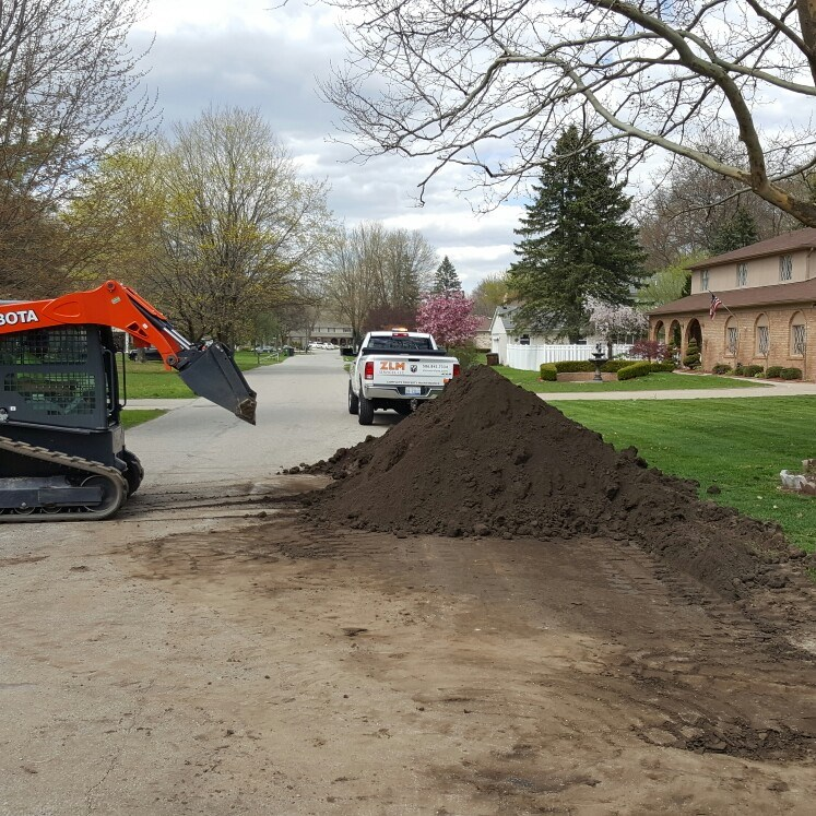 Grading by landscaping companies in Troy, Michigan