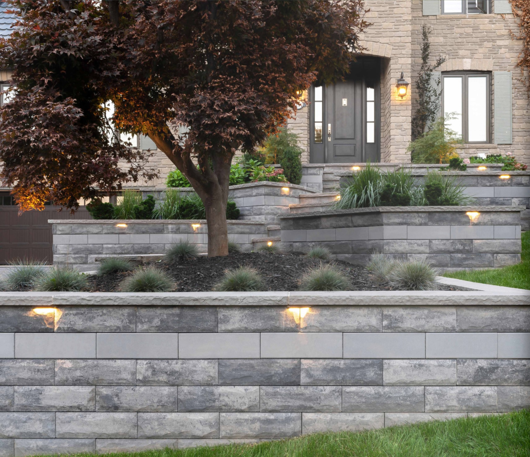 Landscape lighting in Shelby Township, Michigan