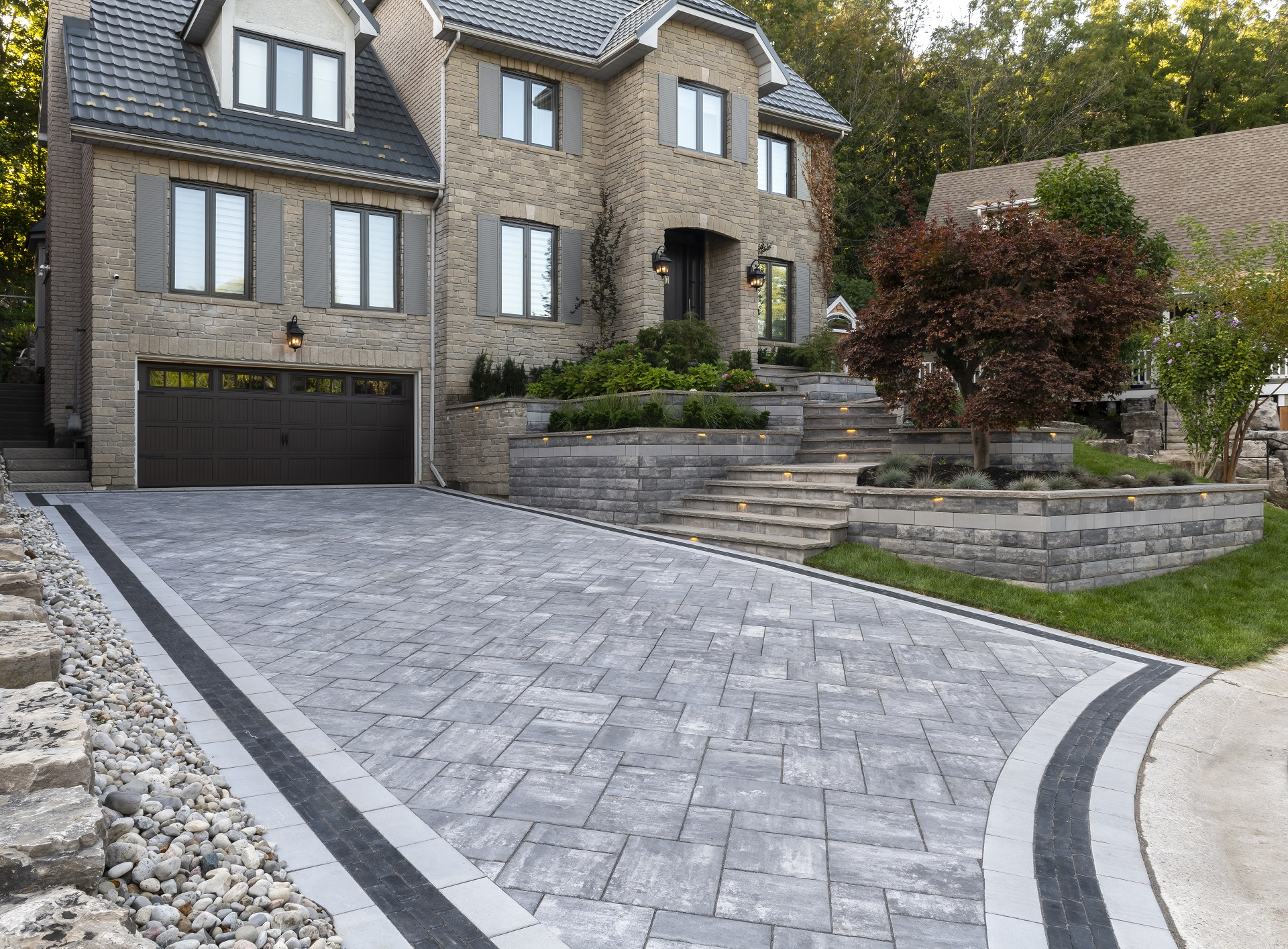 Unilock brick pavers in Macomb Township MI
