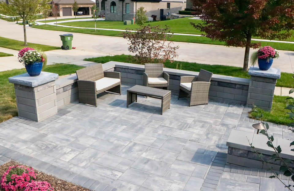 Patio Pavers For An Outdoor Dining Area