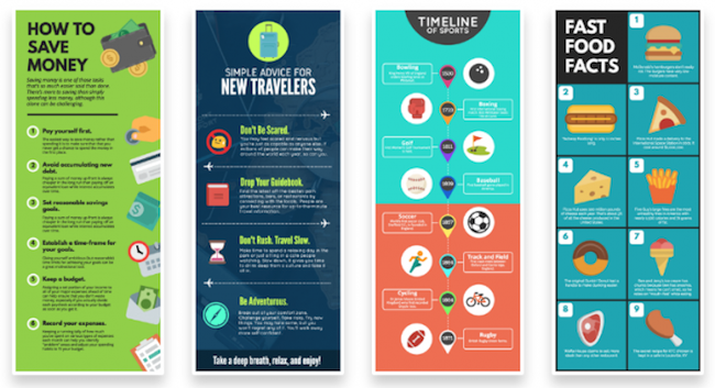 Infographics are useful to combat an ADHD short attention span and any reading difficulties!