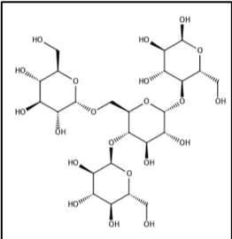 """Figure 2: Chemical structure Glycogen (Khan Academy, """"The structure and function of glycogen."""")"""