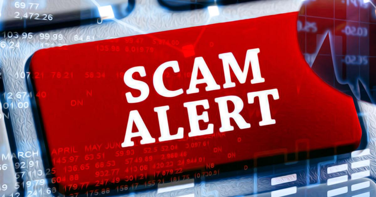 Online scammer fotografie