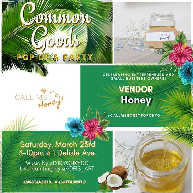 Thank you to @buttahmeup for the opportunity to be party of the Common Goods Pop Up & Party celebrating #entrepreneurs and #smallbusiness owners! 🙌🏾 We'll be at 1 Delisle Ave from 3pm - 10pm.👈🏾 We hope to see you there! 🙂
