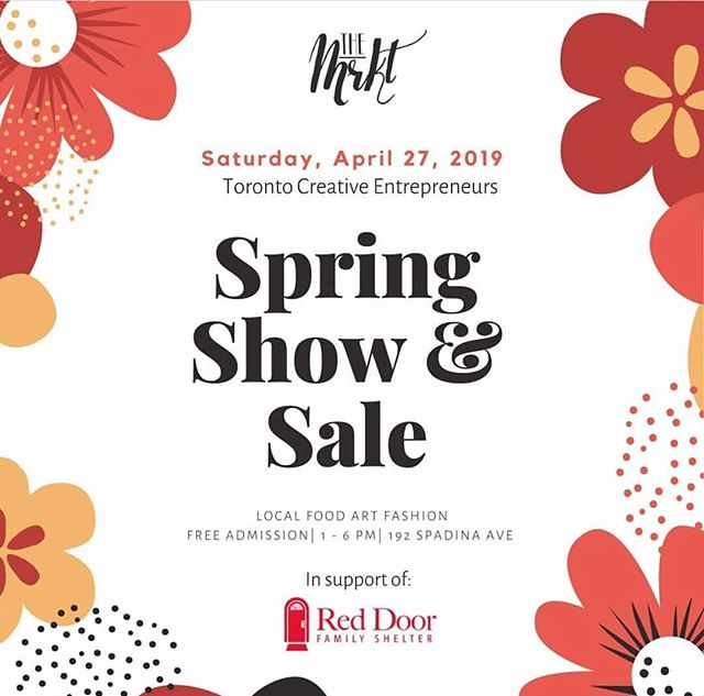 This Saturday April 27th we'll be joining @torontocreativeentrepreneurs for their 2019 Spring MKRT✨ We hope to see you there!