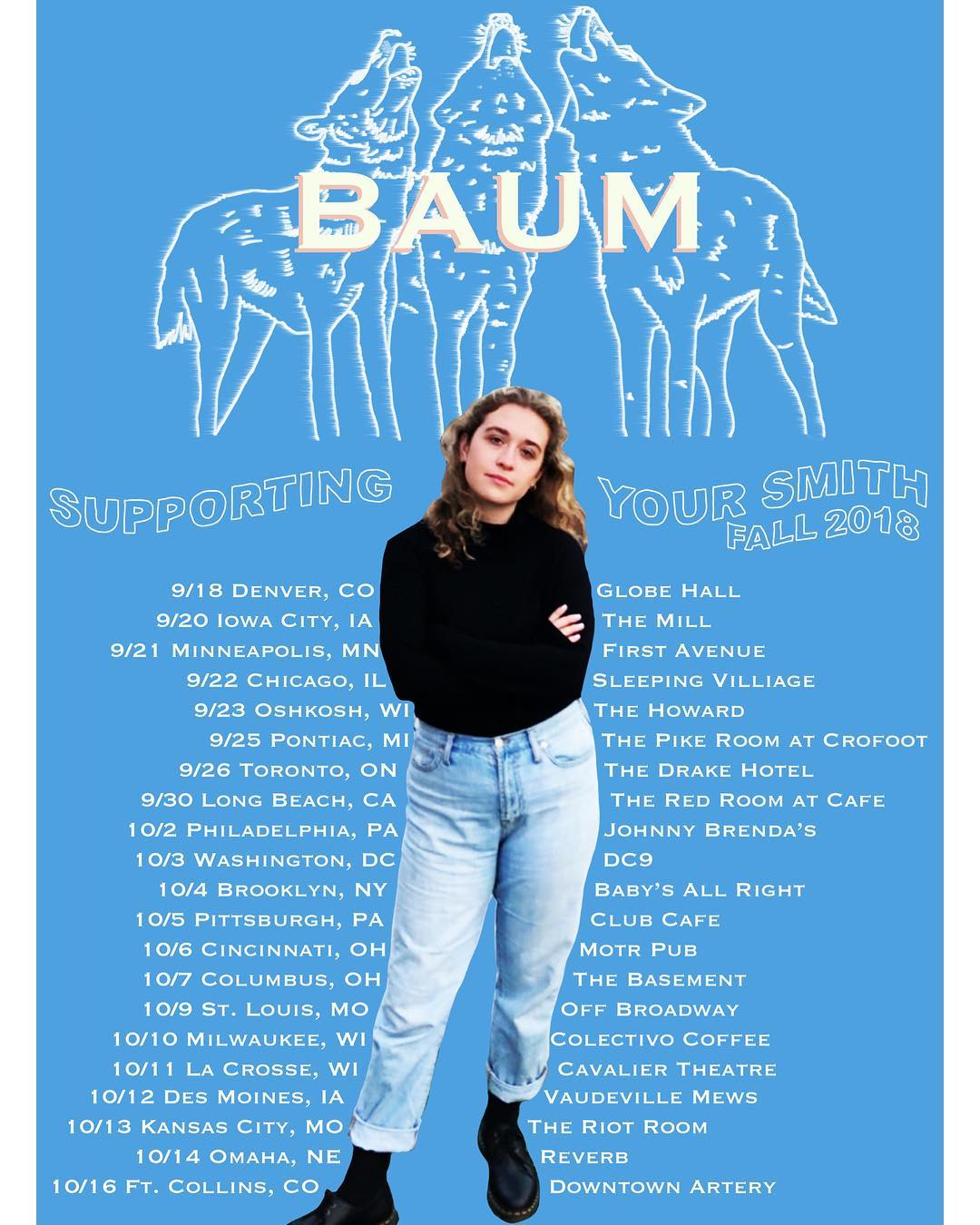 BAUM supporting Your Smith - September 18 - October 14, 2018
