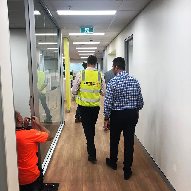 Sneak peek of a current office fit out project for a client in Sydney! 🤫 It's coming along beautifully and we're excited to share the completion photos with you soon.