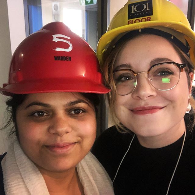 Throwback to Meg and Sonam running an excellent fire evacuation drill in our Melbourne office ❤️ Safety first!
