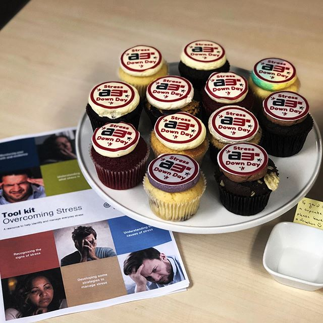 AREA3 is participating in @lifelineaustralia Stress Down day. 🧁 It's a great opportunity to eat a cupcake, wear your slippers into work and initiate conversations about how you and your coworkers deal with and manage stress.  If you are struggling, please reach out to Lifeline at 13 11 14. They have a team of people who can help ❤️
