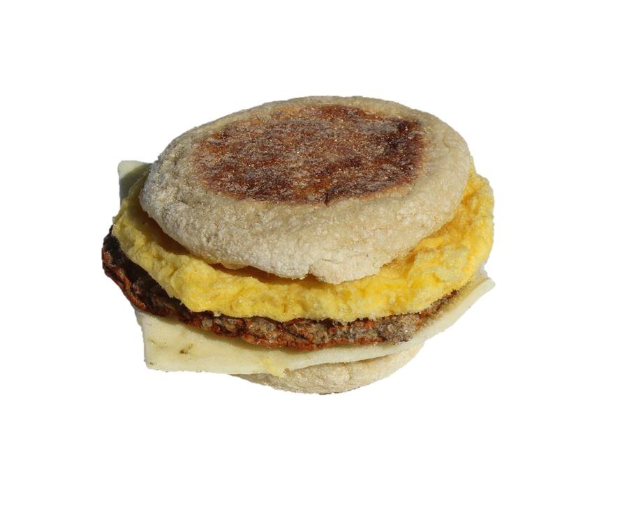 Pork Sausage Breakfast Sandwich