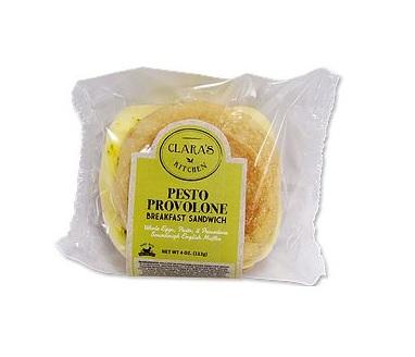 Pesto Provolone Breakfast Sandwich