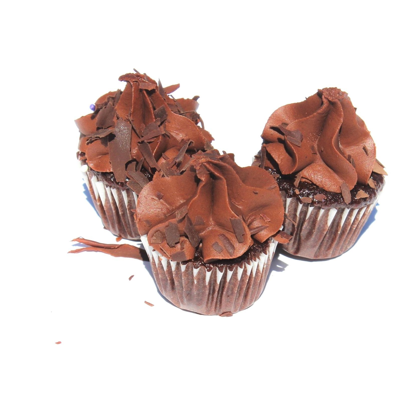 Mini Chocolate Fudge Cupcakes