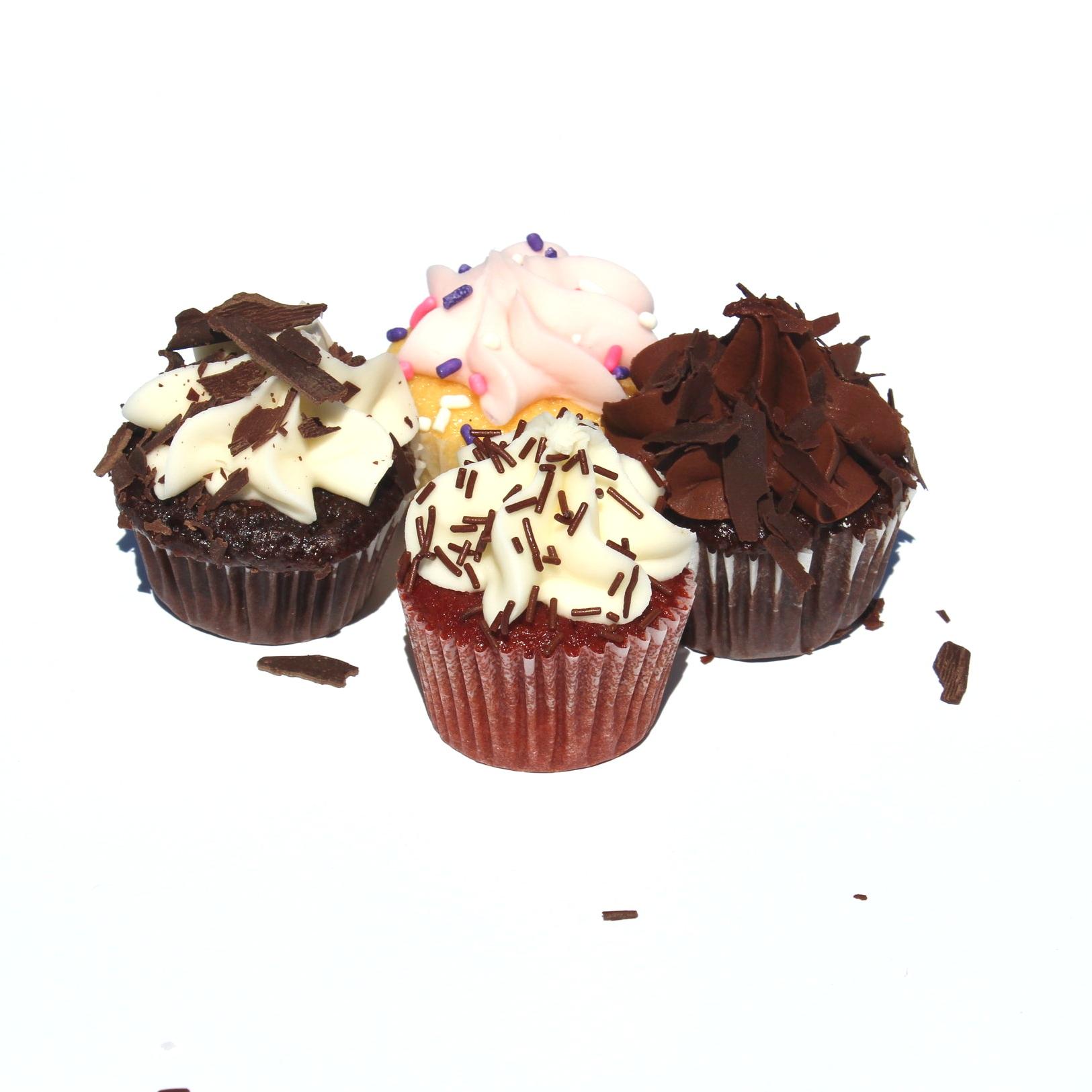 Mini Pastel Cupcake Assortment