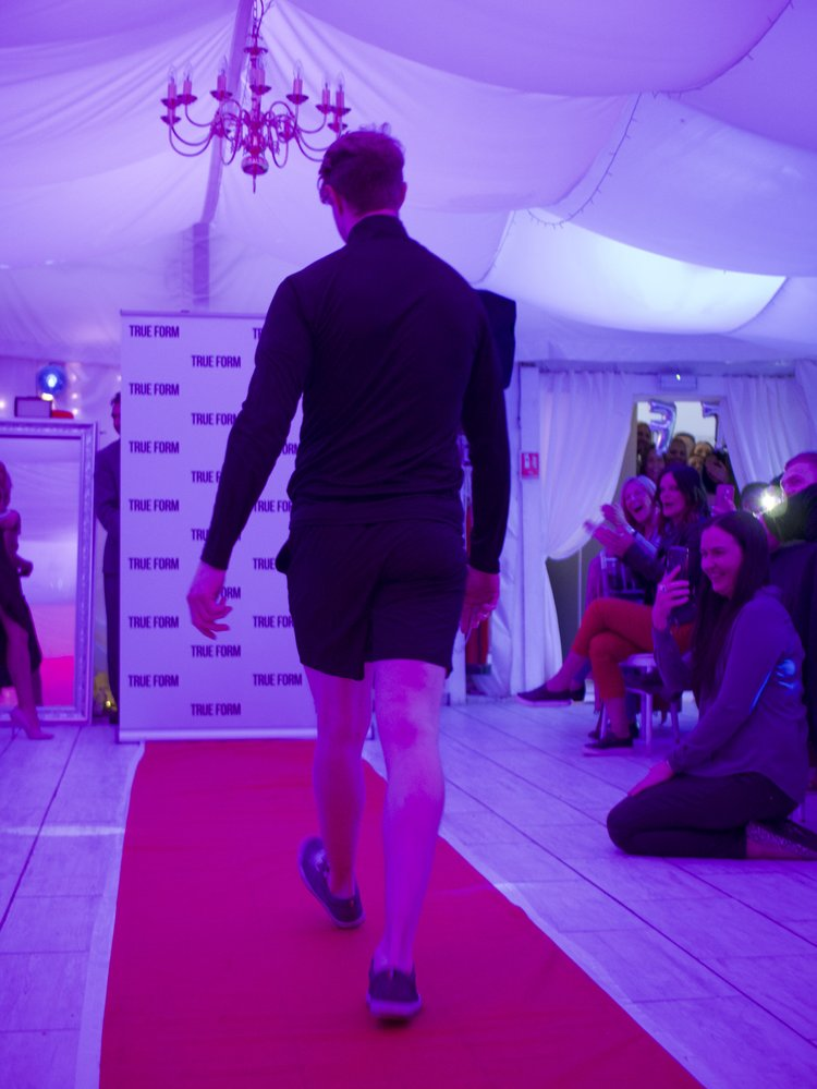 Model William-Rhys-Davies knew how to entertain the crowd!