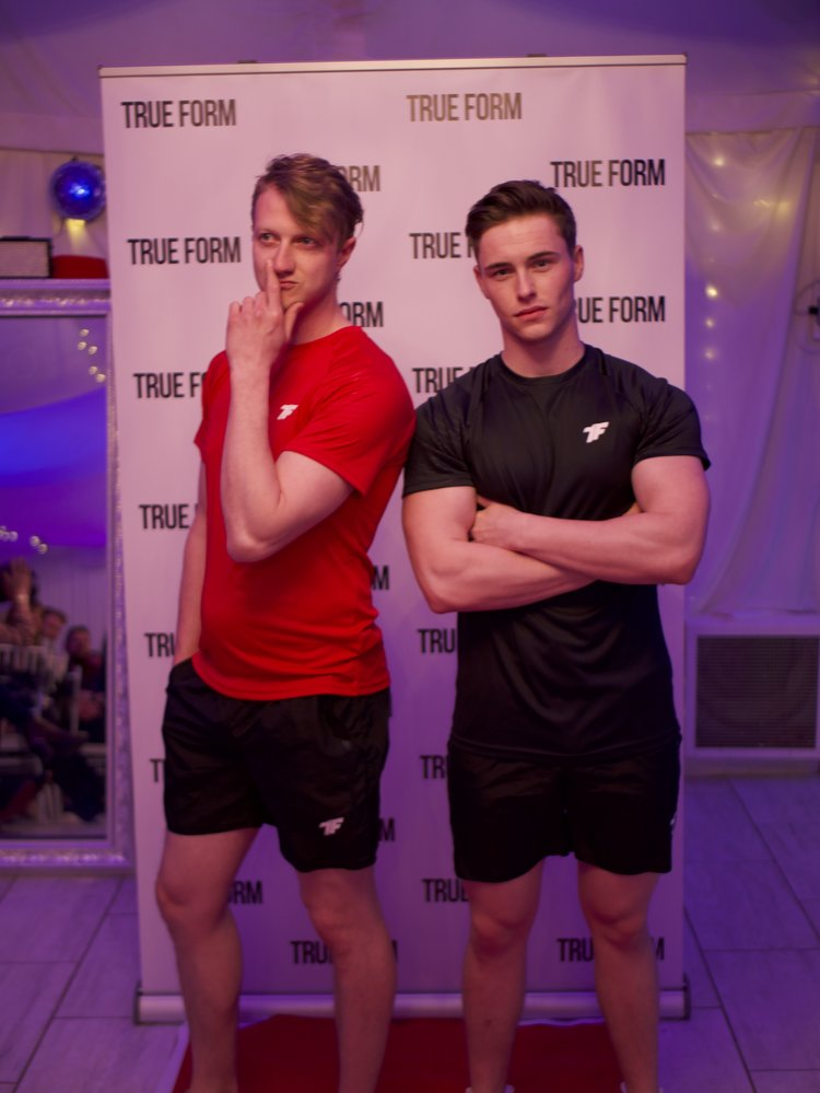 William and Tyla in the Mens Embossed Tees and Form Shorts.