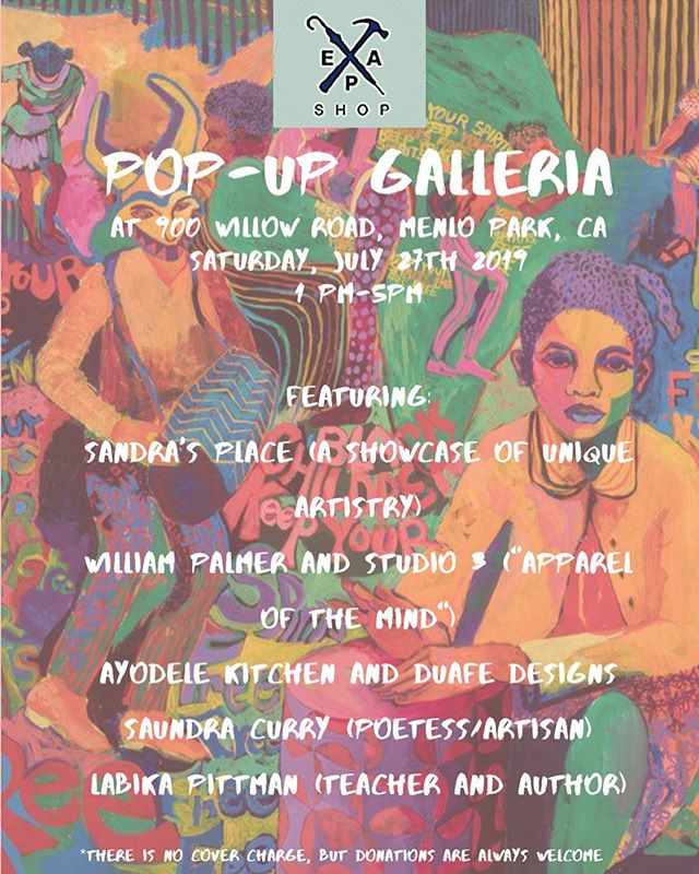 Hey everyone! Check out our pop-up galleria being held on Saturday, July 27. There's gonna be artists from different backgrounds sharing their thoughts and conveying their views through clothes, poetry, and so much more!! Be sure to bring your friends and family so that they won't miss this momentous occasion🎊🎊🎉🎉🎉 #epamade #boutique #thrift #thriftstorefinds #wearepashop #womenempowerment #womensfashion #womenownedbusiness #bayareawomen #menlopark #womensupportingwomen #womenhelpingwomen #thriftsociety #redwoodcity