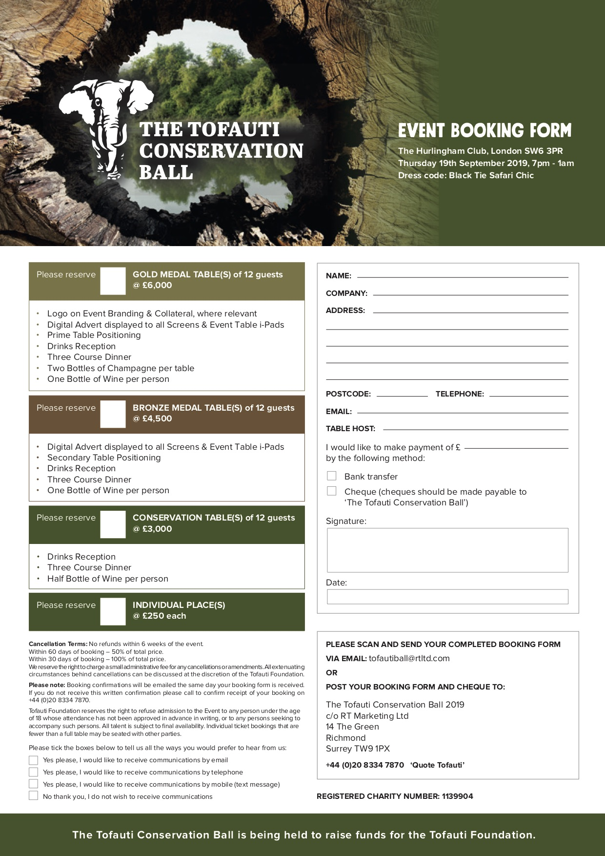 Tofauti Conservation Ball Booking Form 2019 - July.jpg