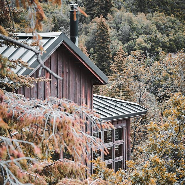 Something about this time of year goes so well with cabins in the woods. And fireplaces, can't forget those 😉 . . . . #fallvibes #exploremore