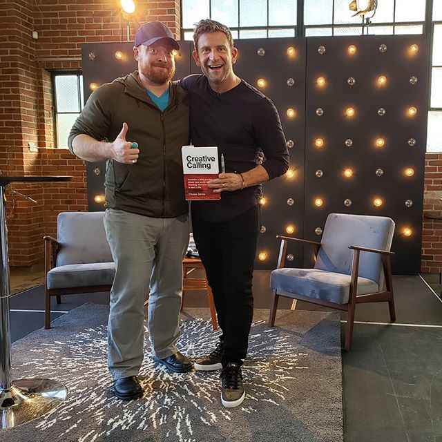 @chasejarvis you rocked it out today, man! Thanks to you and your @creativelive team for showing up to inspire the way you do!