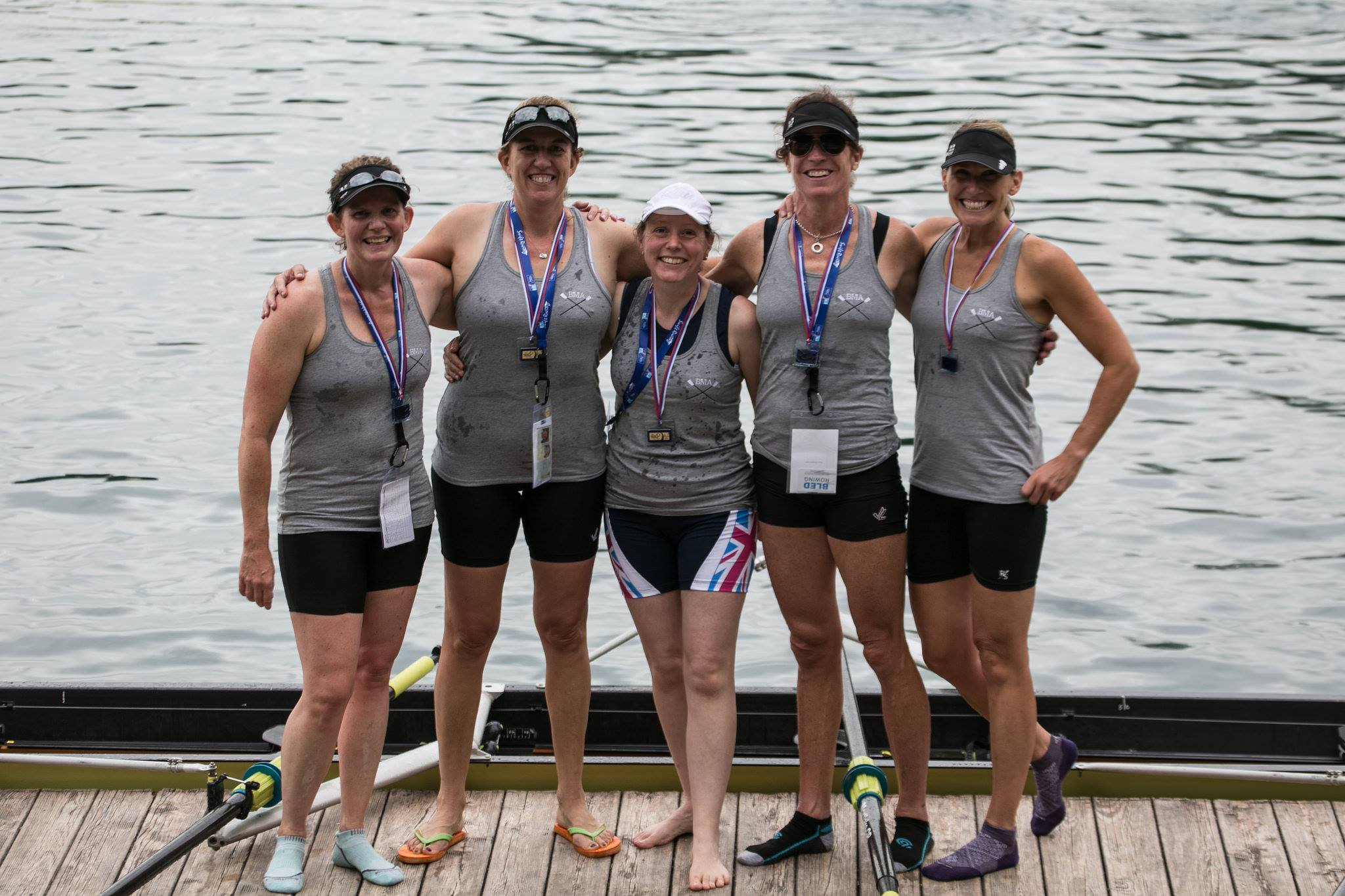 Victory in the WC4+ for Louisa, Julie, Laura, Jill and Tory