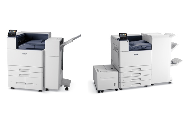 Xerox VersaLink C8000 and C9000 side by side.