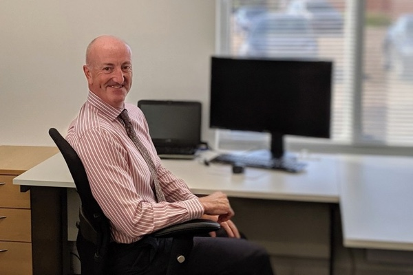 Paul Maslen settles in to his new office at 1, Snetterton Business Hub