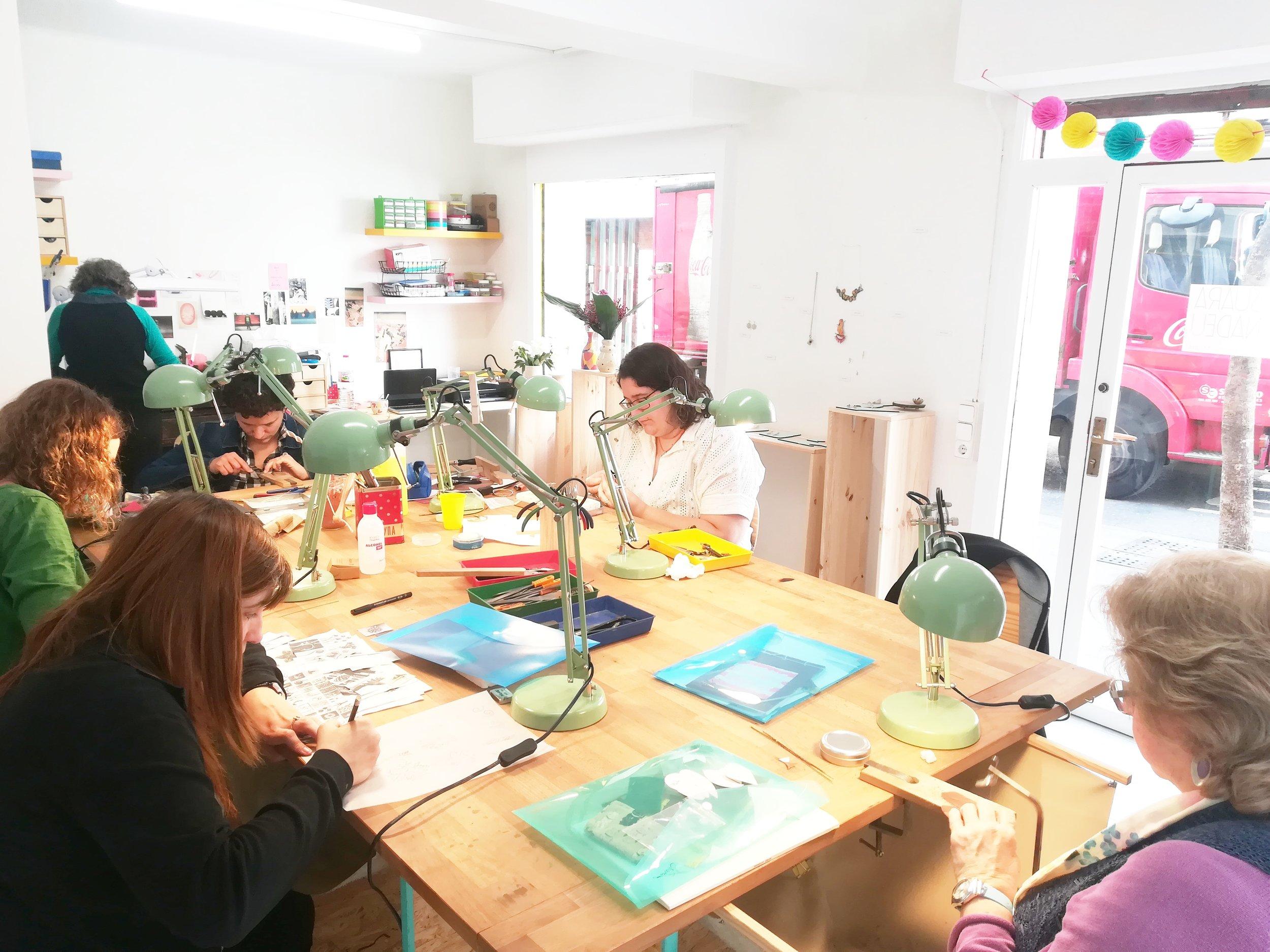 Espacio de cursos en el barrio de Grácia