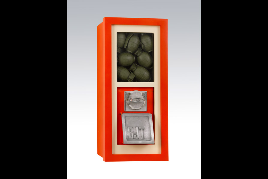 Kids Have Everything These Days (Grenade Version),  59 x 28 x 25cm/23 x 11 x 10 in (mixed media), 2009