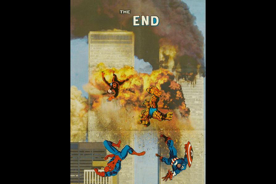 The End,   59 x 43 cm/23 x 17 in (newspaper and comic collage), 2008