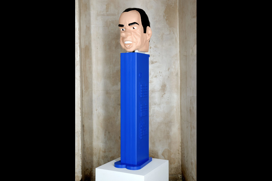 All The Pezidents Men (Nixon),   93 x 29 x 25cm/36 x 12 x 10 in (mixed media), 2007