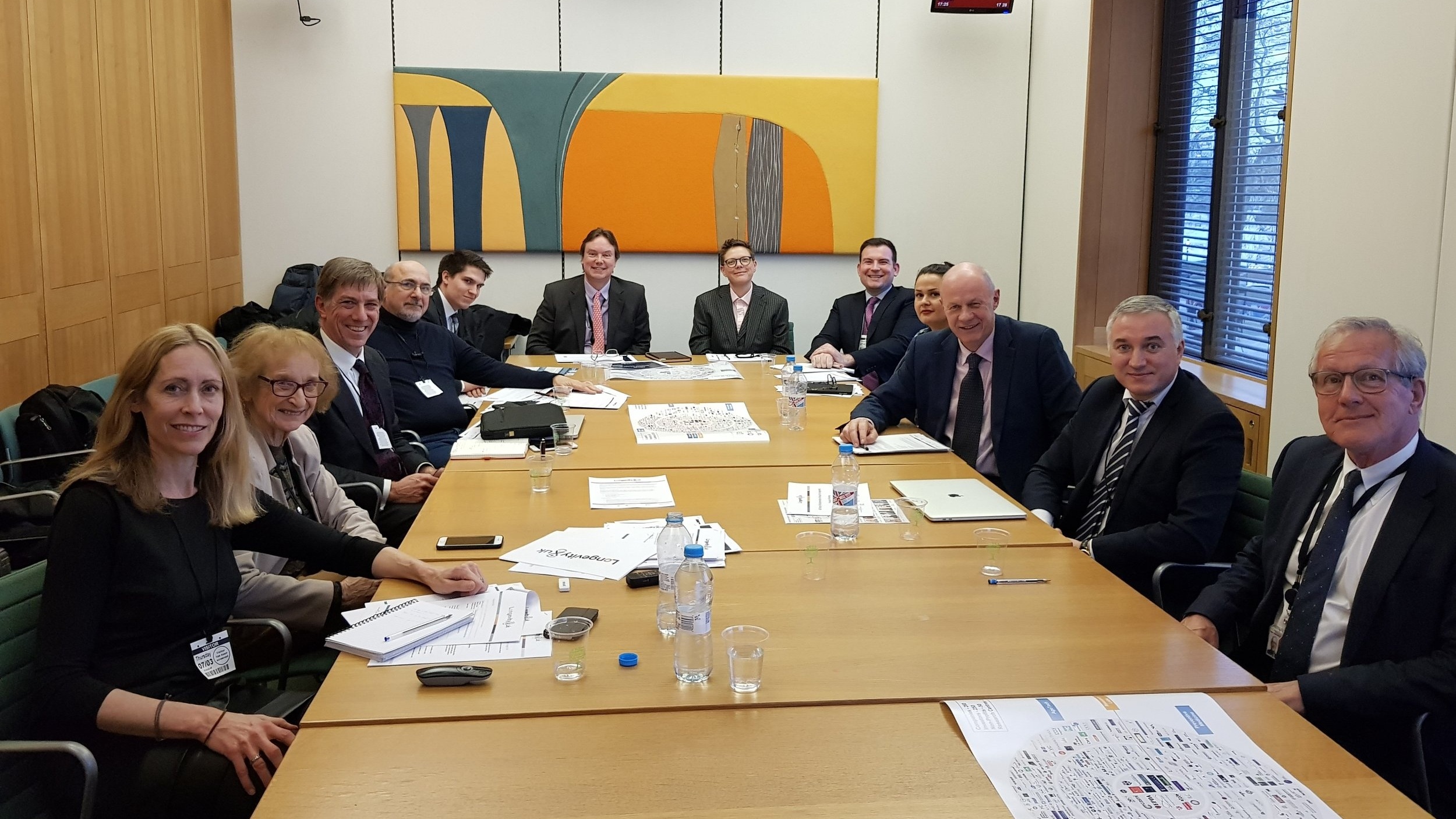 Inaugural Meeting of All Party Parliamentary Group for Longevity, 7 March 2019