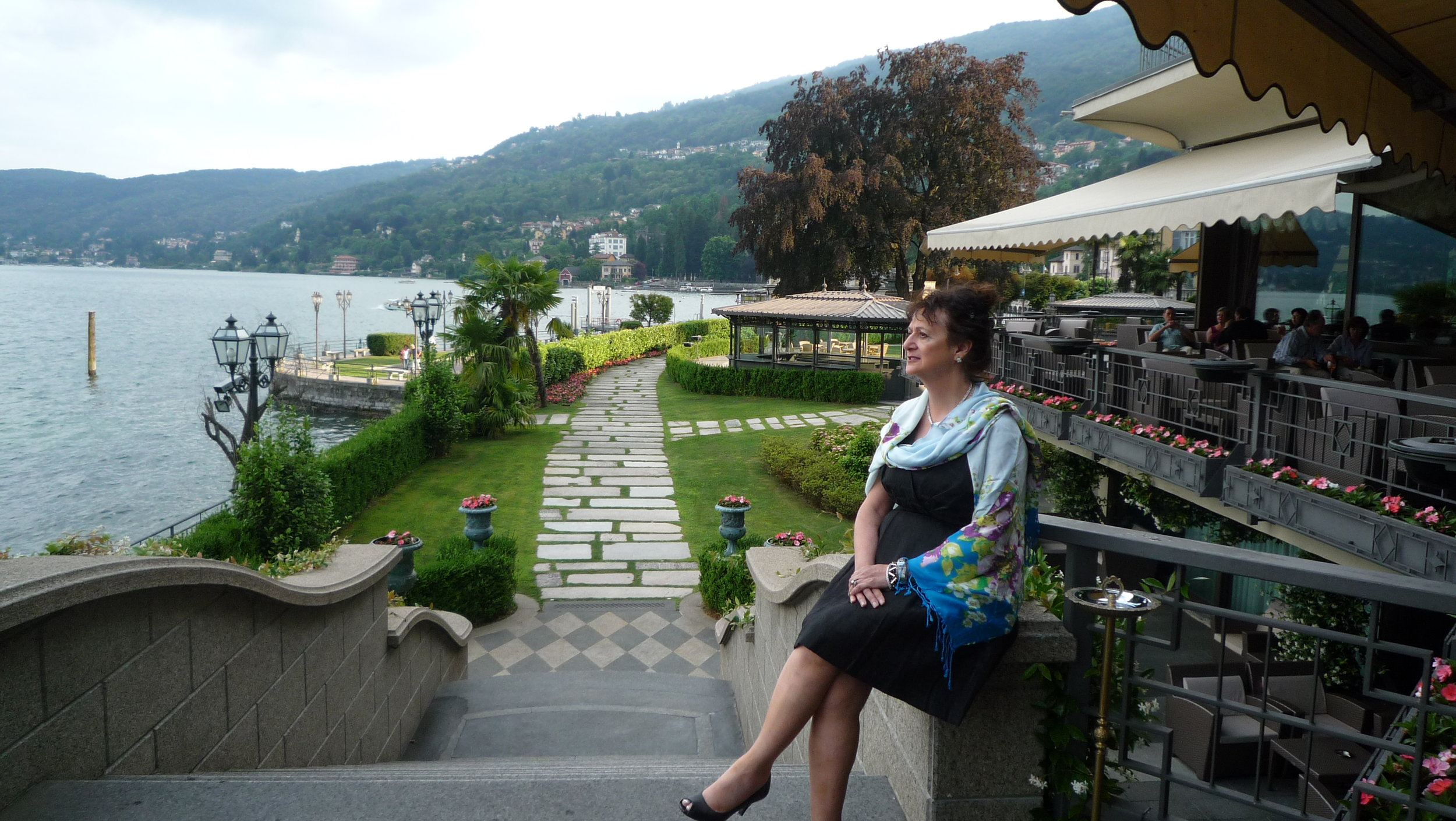 Here I am in Northern Italy at Lake Como. Both of my parents were born in Calabria. My Father, Lorenzo Anthony, was a 'Shoemaker' and he made his own wine in the basement wine cellar with about 8 large barrels. My mom, Maria Dominca, enjoyed playing the piano and writing her own music as well as being a a tailor. Our home was filled with traditional Italian foods and family events. My Grandfather , Giuseppe Adamo, was a composer and he wrote the Presidential March for Eisenhower. My grandmother Angela Bonacci was the town weaver and grew her own silk worms and sourced her own fibers. I've had to wait to begin my true creative journey, but it has been well worth the wait, on many levels.