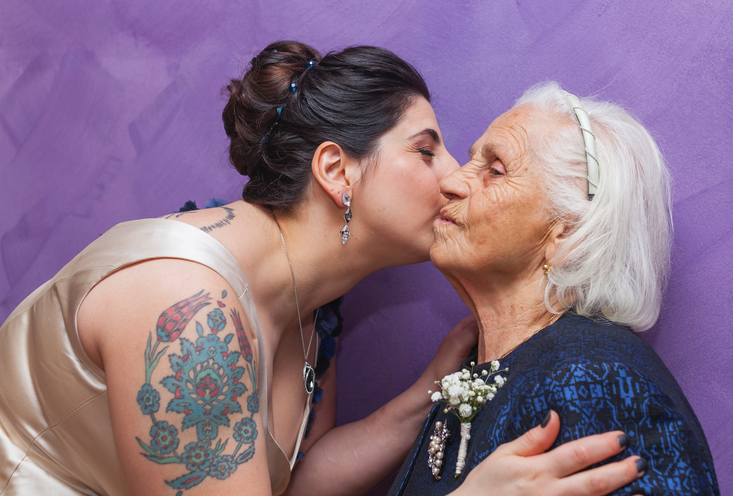 A daughter kisses the cheek of her older mother. With caregiver's best friend you can spend less time on chores and more time enjoying the company of your loved one.