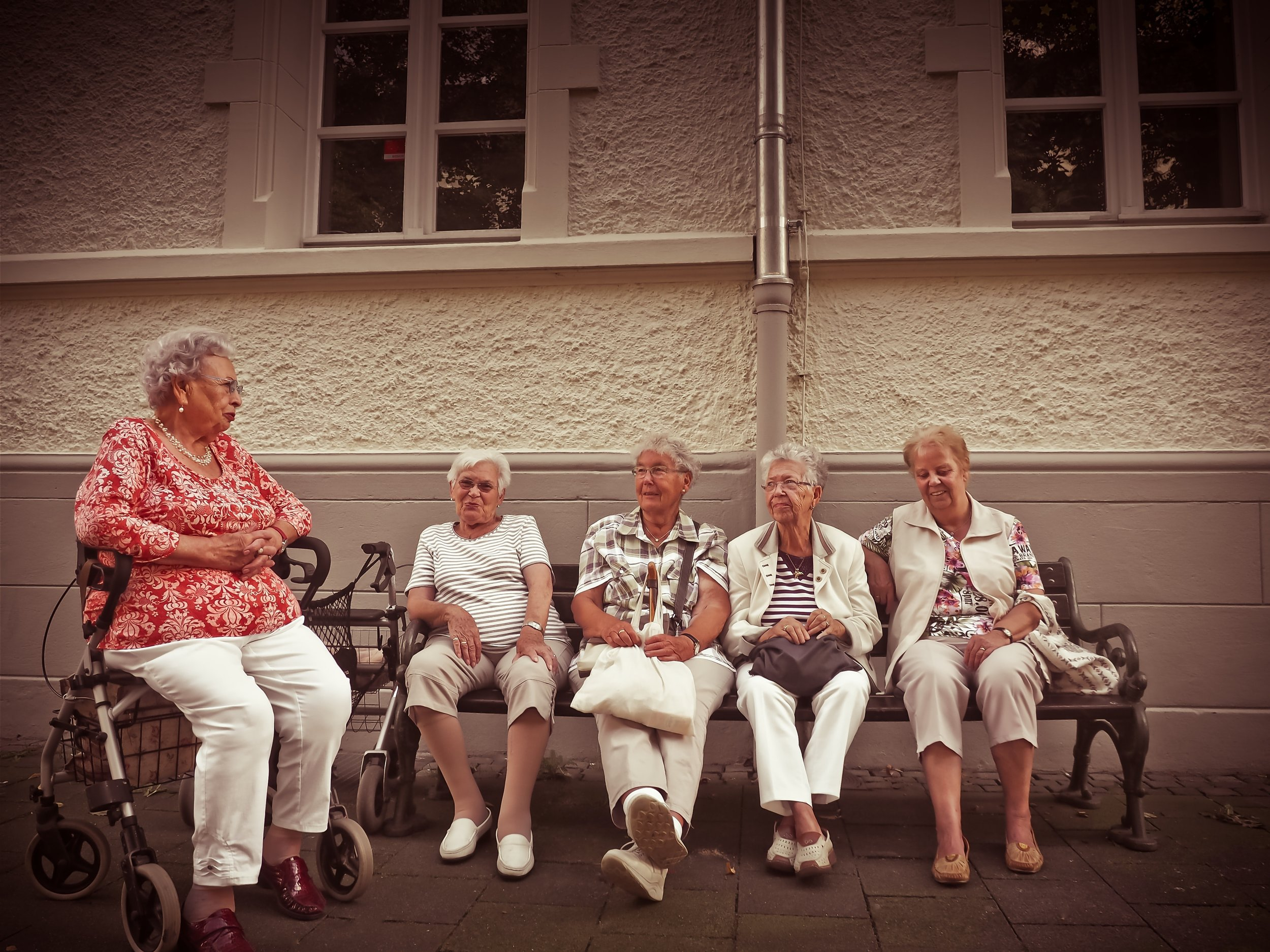 A group of older adults sitting together