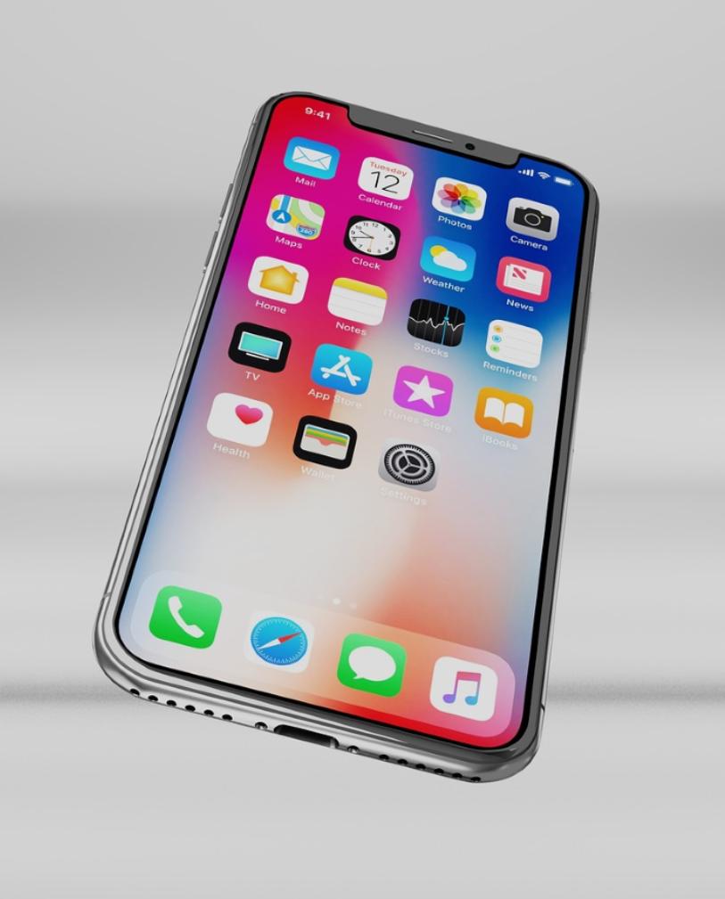 Closeup photo of an iPhone X