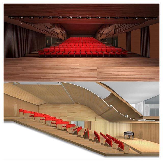 O auditório Bolsa de Imóveis é um projeto acústico de paredes curvas ideal para recitais e concertos musicais. Apesar da capacidade para 125 lugares, a sala permite uma customização para apresentações menores, de 40 assentos. #teatros #auditórios #arquitetura