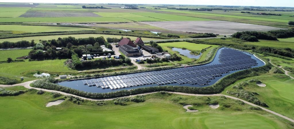 In 2017 Solar Float designed and installed the largest floating solar array in the Netherlands at De Krim Resort