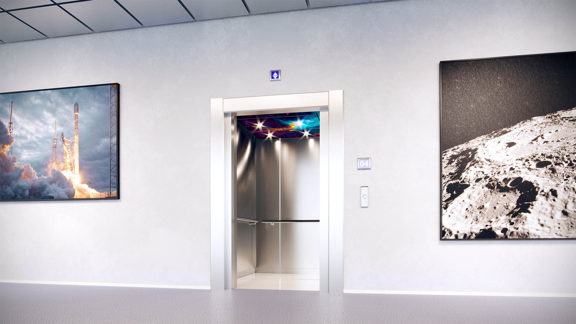 Transform lift interiors with multi-material customisable lift ceilings