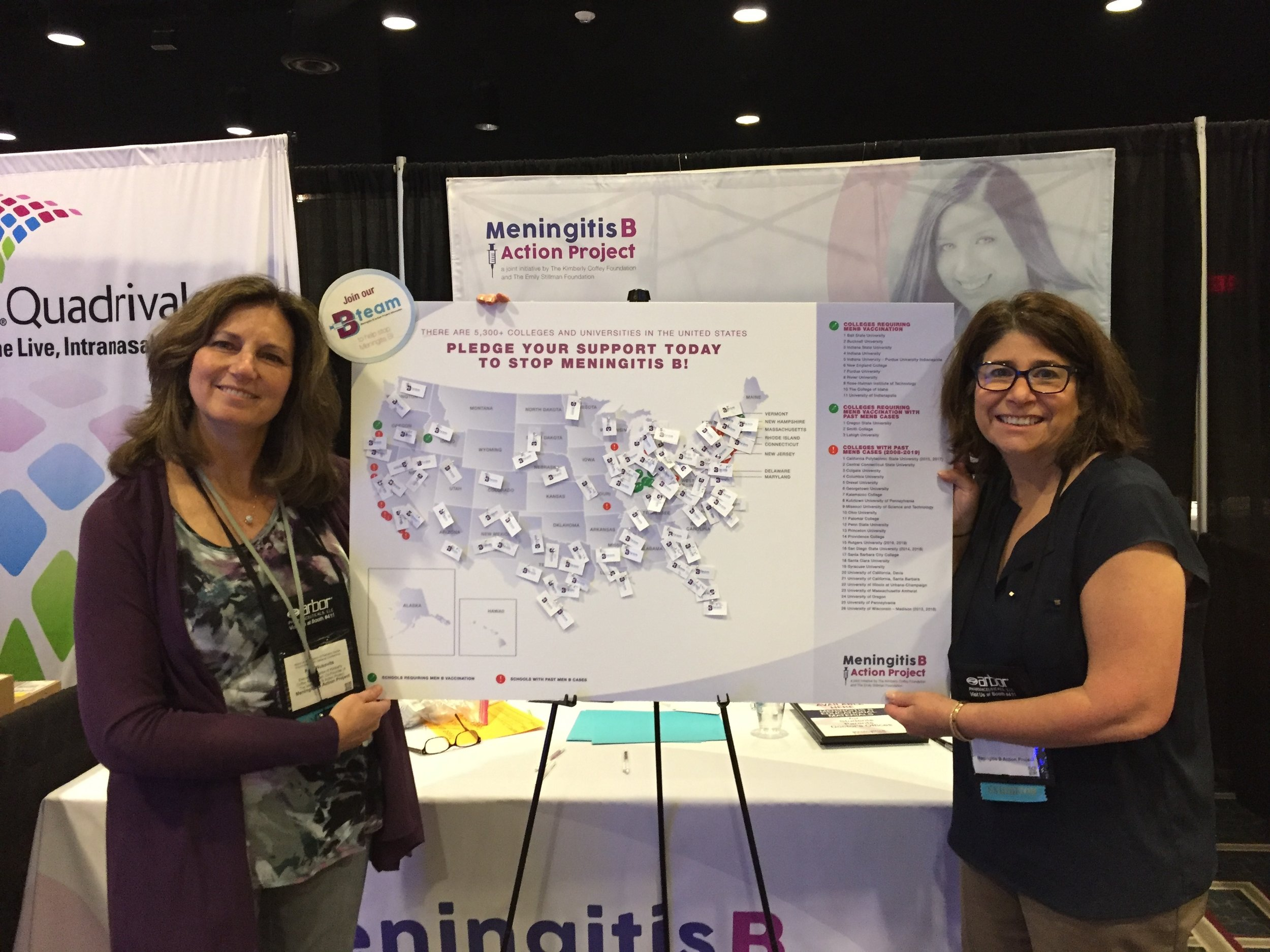 Patti and Alicia at National Association of Pediatric Nurse Practitioners (NAPNAP) Conference 2019.