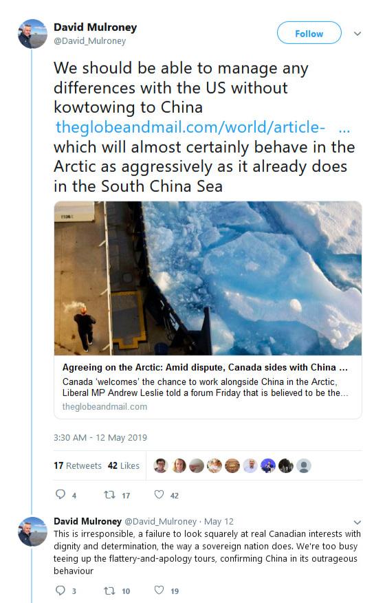 david-mulroney-china-arctic-twitter