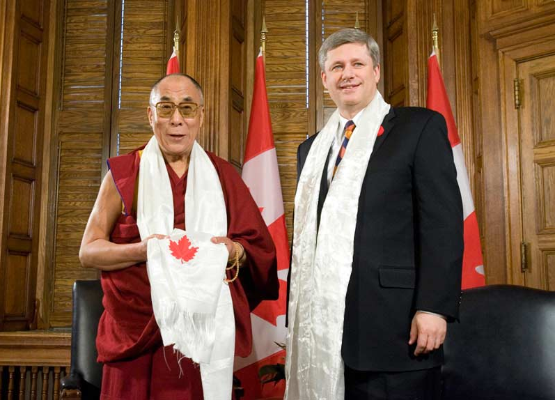 His Holiness the Dalai Lama meets Prime Minister Stephen Harper in Ottawa, 2007 |  CANADA-TIBET COMMITTEE