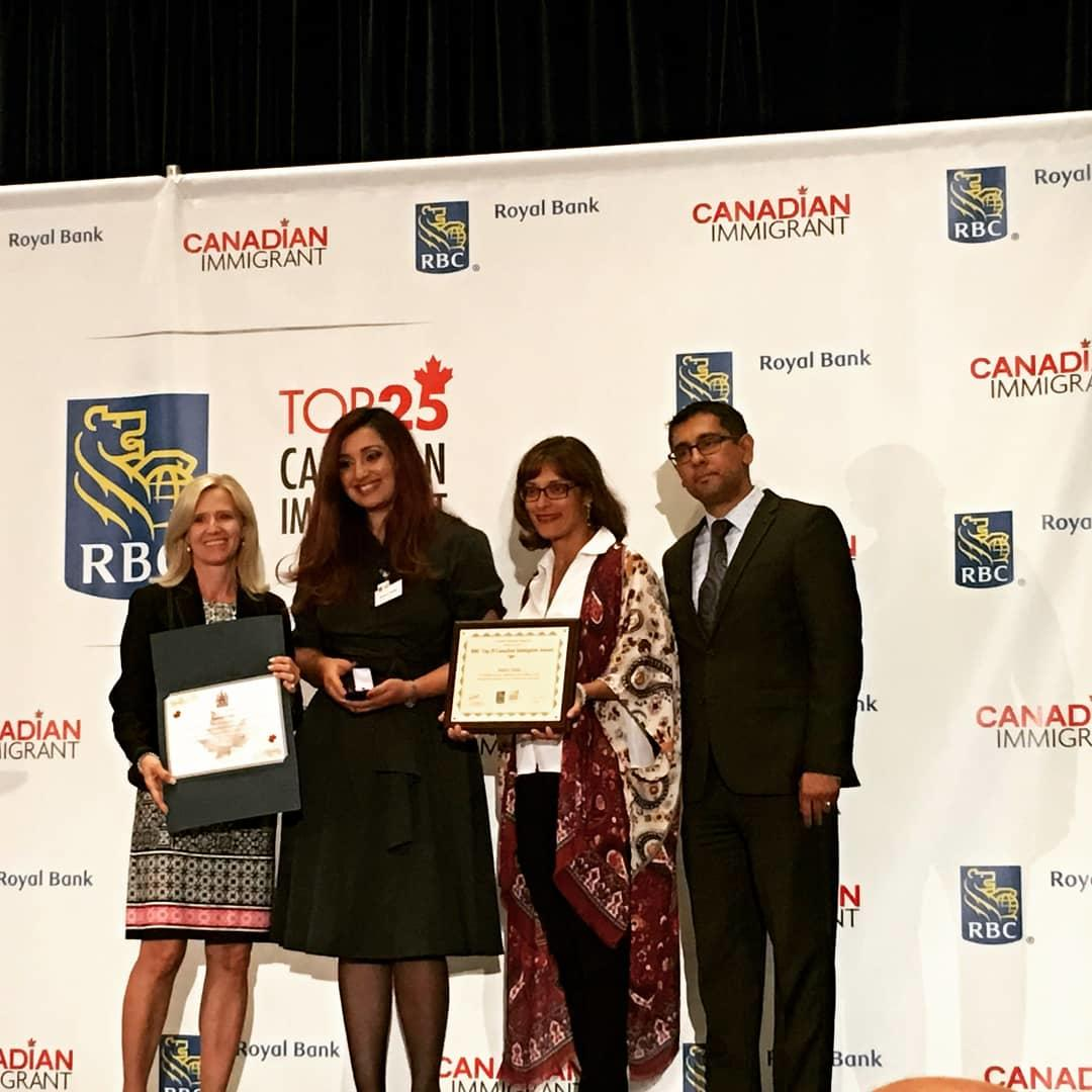 Top 25 Canadian Immigrant Award Winner - Samra Zafar has won the prestigious top 25 Canadian Immigrant Award for her activism, for being brave in the face of adversity and hardships, and for showing Canadians that they can achieve what they set their minds to - regardless of their circumstances.