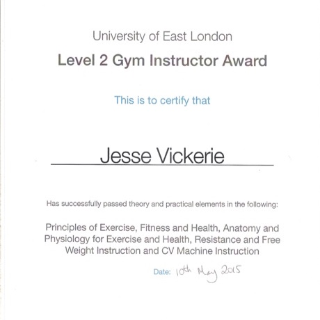 LEVEL 2 GYM INSTRUCTOR - PRINCIPLES OF EXERCISE, FITNESS AND HEALTH, RESISTANCE AND FREE WEIGHT INSTRUCTION