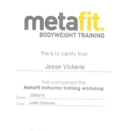 BODYWEIGHT TRAINING - MetaFit INSTRUCTOR TRAINING WORKSHOP